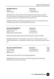 Production Company Listings - Film Nova Scotia