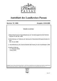 Amtsblatt des Landkreises Passau - Landkreis Passau