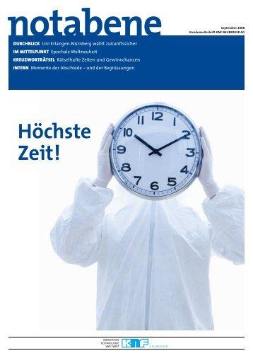 """""""notabene"""", 6. Ausgabe, von KNF NEUBERGER AG"""