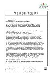 21. Oktober 2002 KULTURPREIS DES ... - Landkreis Passau