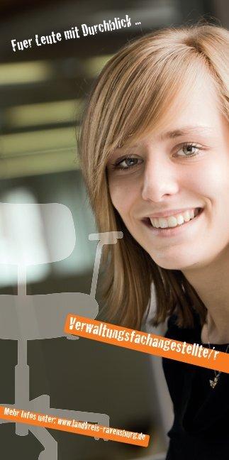 Flyer Verwaltungsfachangestellte/r - im Landkreis Ravensburg