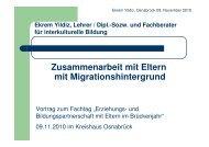 Zusammenarbeit mit Eltern mit Migrationshintergrund - Landkreis ...