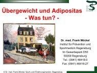 Referat von Hr. Dr. med. Frank Möckel - Landkreis Regensburg