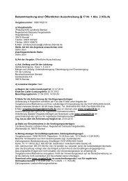 Bekanntmachung einer Öffentlichen ... - Landkreis Stendal