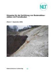 Verfüllung von Bodenabbaustätten - beim  Landkreis Vechta