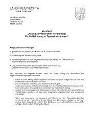 Merkblatt - beim Landkreis Vechta