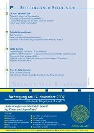 Informationen zum Tagungsprogramm - im Landkreis Waldeck ...