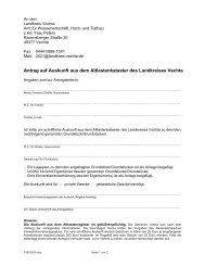 Auskunft aus dem Altlastenkataster - beim Landkreis Vechta