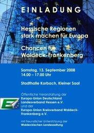 einladung - im Landkreis Waldeck Frankenberg