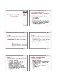Strategien zur Vermeidung der Übertragung - beim Landkreis Vechta