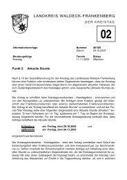 Aktuelle Stunde - im Landkreis Waldeck Frankenberg
