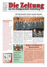SV Hamerstorf unter neuem Vorsitz Sparen und Bauen im ...