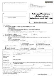 Antrag auf Anordnung verkehrsrechtlicher Maßnahmen - Landkreis ...