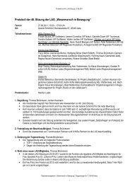 Protokoll der 46. LAG-Sitzung, 27.09.2011 - Landkreis Wesermarsch