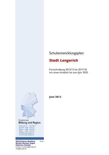 Schulentwicklungsplan 2012/13 bis 2017/18 der ... - Stadt Lengerich
