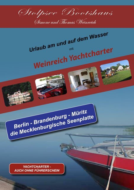 Stolpsee Bootshaus - Weinreich Yachtcharter