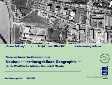 Neubau — Institutsgebäude Geographie — - Landesinitiative ...
