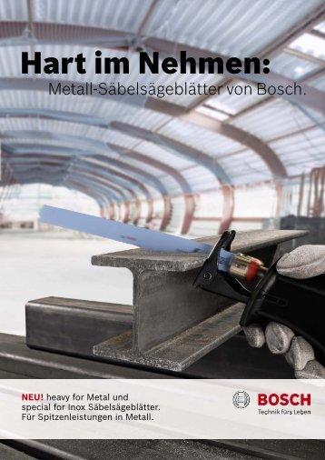 Hart im Nehmen: - Bosch Elektrowerkzeuge
