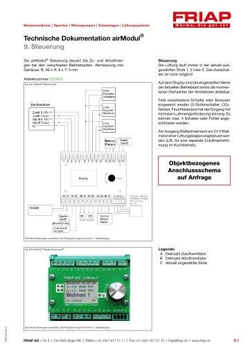 Technische Dokumentation airModul 9. Steuerung - Friap AG