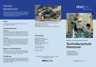 Flyer Technikerschule - Otto Brenner Schule