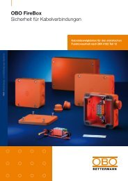 OBO FireBox - Sicherheit für Kabelverbindungen - OBO Bettermann