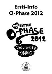 Ersti-Info O-Phase 2012 - Fachschaft Mathematik/Informatik