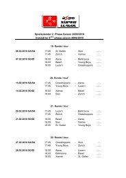 Spielkalender 2. Phase Saison 2009/2010 Calendrier 2 ... - FC Luzern