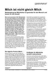 Milch ist nicht gleich Milch - Greenpeace Gruppen in Deutschland