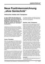 FS ohne Gentechnik 10_2009 - Greenpeace