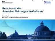 Branchenstudie: Schweizer Nahrungsmittelindustrie - ETH Zürich