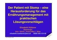 Der Patient mit Stoma - Verband der Diaetologen Österreichs
