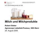 Milch und Milchprodukte - Agroscope
