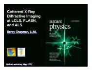 Coherent X-Ray Diffractive Imaging at LCLS, FLASH, and ALS