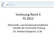 Vorlesung Recht II FS 2012 - Kellerhals Anwälte