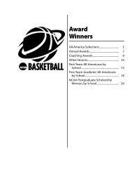 Award Winners - NCAA