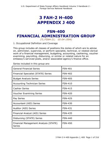 3 FAH-2 H-400 APPENDIX J 400 - US Department of State
