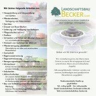 Firmen-Flyer 2011 - Landschaftsbau Becker GmbH