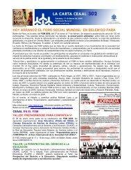 HOY ARRANCÓ EL FORO SOCIAL MUNDIAL EN BELEM ... - Unitas