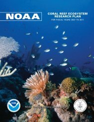 National Research Priorities - NOAA Coral Reef Information System