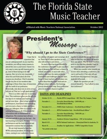 October 2012 - Florida State Music Teachers Association