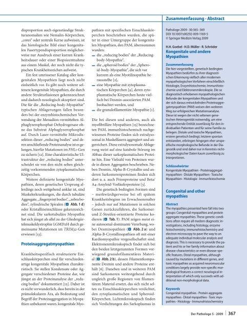 Kongenitale und andere Myopathien - Referenzzentrum für ...