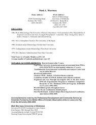 Mark L. Morrissey - School of Meteorology - University of Oklahoma
