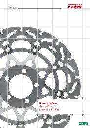 Disque de Frein HARLEY DAVIDSON FLSTN 1584 SOFTAIL DELUXE Année de construction 2007 TRW Lucas mst501