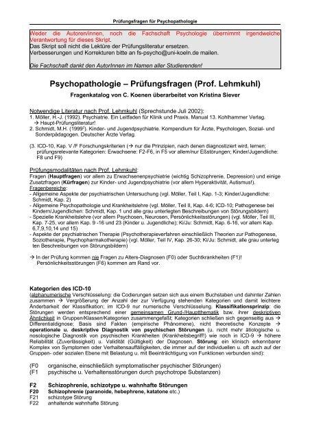 Psychiatrie Hierarchisierung Der Psychiatrischen 1