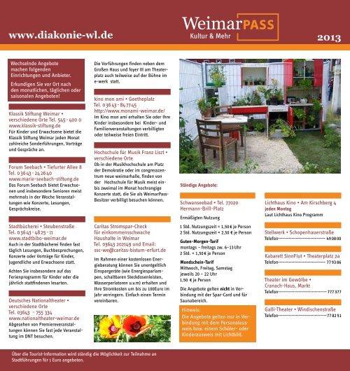Weimarpass Flyer 2013 - Stadt Weimar