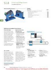 EACR Series CurrentWatch Current Sensors - Klockner Moeller Parts