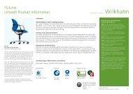 FS-Linie. Umwelt Produkt Information. - Wilkhahn