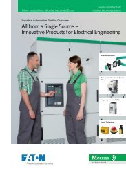 Industrial Automation Product Overview - Moeller