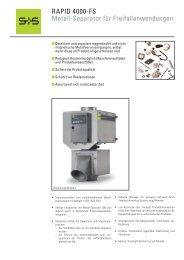 RAPID 4000-FS Metall-Separator für ... - plasma GmbH