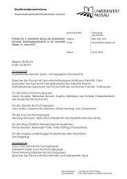 Protokoll der Konventssitzung_ 14.01. 2010 - Studentische Gruppen ...